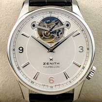 Zenith Elite Tourbillon Edelstahl 40mm Glasboden Full Set NEW