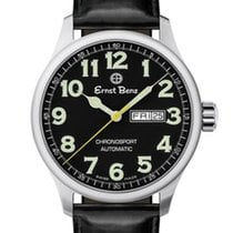 Ernst Benz Chronosport Traditional 44mm Black Dial Green...