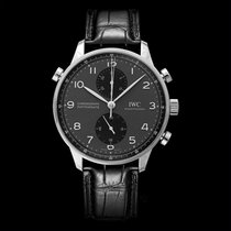 IWC Portuguese Chronograph Steel 40.90mm Black United States of America, California, San Mateo