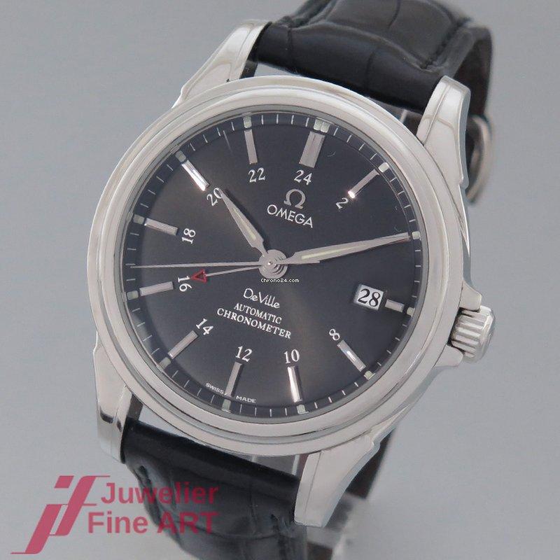 1ba839e54fb8 Omega DeVille GMT Edelstahl LB - CO-AXIAL - Box und Papiere for ...