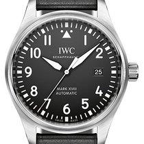 IWC Pilot Mark Ocel 40mm Černá Arabské