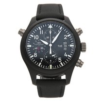 IWC Pilot Double Chronograph pre-owned 44mm Ceramic