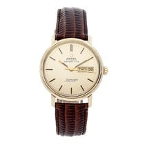 Omega Seamaster DeVille pre-owned 34.5mm Yellow gold