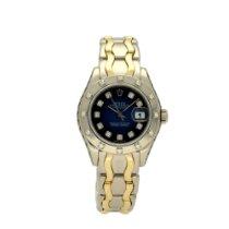 Rolex Pearlmaster Witgoud 29mm Blauw Geen cijfers
