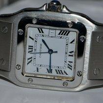 Cartier Santos (submodel) Сталь 30mm Белый Римские
