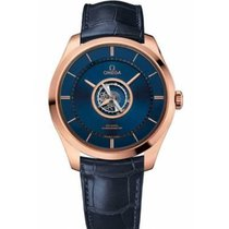 Omega De Ville Central Tourbillon Rose gold 44mm Blue