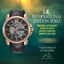 Seiko Premier Steel 42.9mm Black No numerals Singapore, Singapore