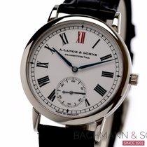 A. Lange & Söhne Platinum Automatic White Roman numerals 37mm pre-owned Langematik