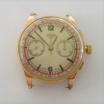 Heuer Yellow gold Manual winding Grey Arabic numerals 38mm pre-owned