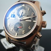 IWC Red gold Automatic Grey Arabic numerals 46mm new Pilot Spitfire Perpetual Calendar Digital Date-Month