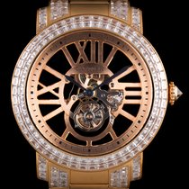 Cartier 18k R/G Unique Diamond Flying Tourbillon Skeleton Rotonde