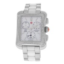 Michele Ladies Deco Moderne MW06U01A1025 Steel MOP Diamond