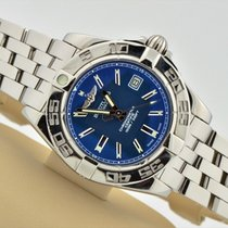 Breitling Galactic Stainless Steel Blue Dial Pilot Band A71356...