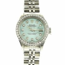 Rolex Lady Datejust with  1.0 ctw Diamond Bezel and  Hour