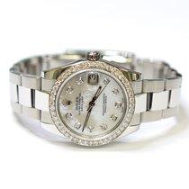 Rolex DateJust 31mm Stainless Steel Custom Diamonds Mother of...