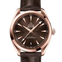 Omega Seamaster Aqua Terra Rose gold 41mm Brown