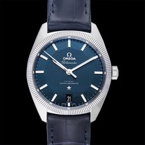 Omega Globemaster Steel 39mm Blue United States of America, California, San Mateo