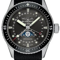 Blancpain Fifty Fathoms Bathyscaphe neu 2020 Automatik Uhr mit Original-Box und Original-Papieren 5054-1110-NABA