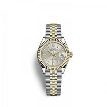 Rolex Lady-Datejust Or/Acier 28mm Argent