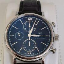 IWC Portofino Chronograph Stahl 42mm Schwarz