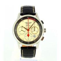 Longines Column-Wheel Chronograph Stahl 41mm Silber