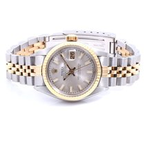 Rolex Lady-Datejust Gold/Stahl 26mm Silber
