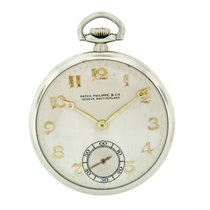 Patek Philippe White gold Manual winding Silver Arabic numerals 43.8mm pre-owned Vintage