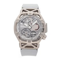 Hublot Techframe Ferrari Tourbillon Chronograph Oro blanco 45mm Gris Sin cifras