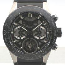 태그호이어 티타늄 자동 투명색 숫자없음 45mm 중고시계 까레라 외흐-02T