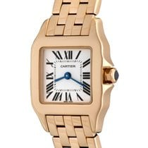 Cartier Santos Demoiselle pre-owned 22mm Silver Rose gold