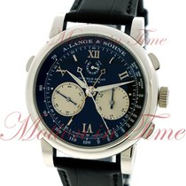A. Lange & Söhne Double Split Platinum 43mm Black Roman numerals United States of America, New York, New York