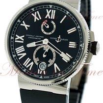 Ulysse Nardin Marine Chronometer Manufacture Steel 45mm Black Roman numerals United States of America, New York, New York