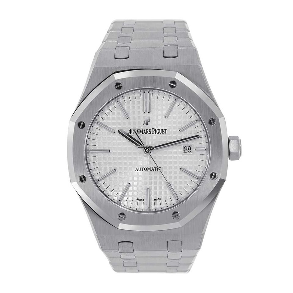 1f04ce206 Audemars Piguet Royal Oak 41mm White Stainless Steel 15400ST.... for  $24,499 for sale from a Trusted Seller on Chrono24