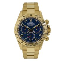Rolex DAYTONA 18K Yellow Gold Watch Blue Dial 2016