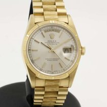 Rolex Day Date 36mm yellow gold Bark finish - like new -...