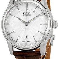 Oris Artelier Date Automatic Steel Mens Watch Silver Dial Date...