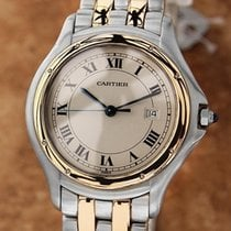 Cartier Panthere Round 18k Gold Stainless Unisex 7 inch 33mm...