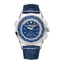 Patek Philippe World Time Chronograph Белое золото Синий Россия, Москва
