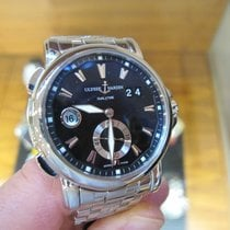 Ulysse Nardin pre-owned Automatic 42mm Black Sapphire crystal 10 ATM