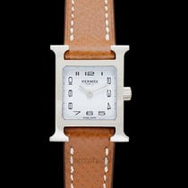 Creo Heure H Quartz White Steel/Leather - HH1.110