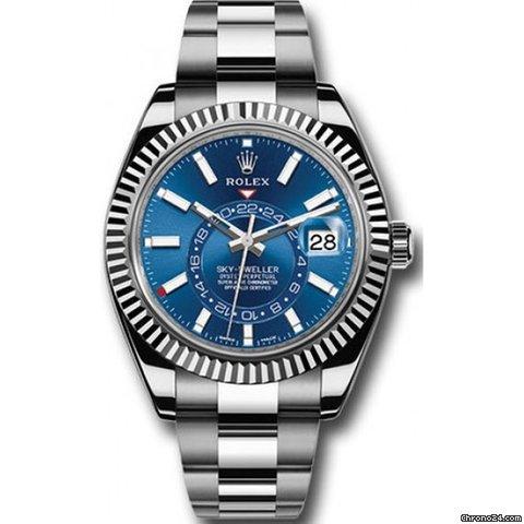 Rolex Sky-Dweller Rolex 326934  Sky-Dweller Stainless Steel Blue Dial 2021 new