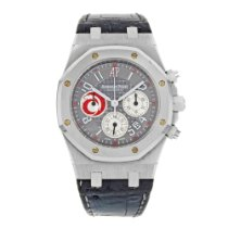 Audemars Piguet Platinum Automatic Grey Arabic numerals 39mm pre-owned Royal Oak Chronograph