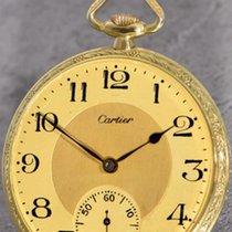 Cartier Uhr gebraucht 1915 Gelbgold 47mm Handaufzug Nur Uhr