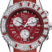 Dior Chronograph 38mm Quartz new Christal Red