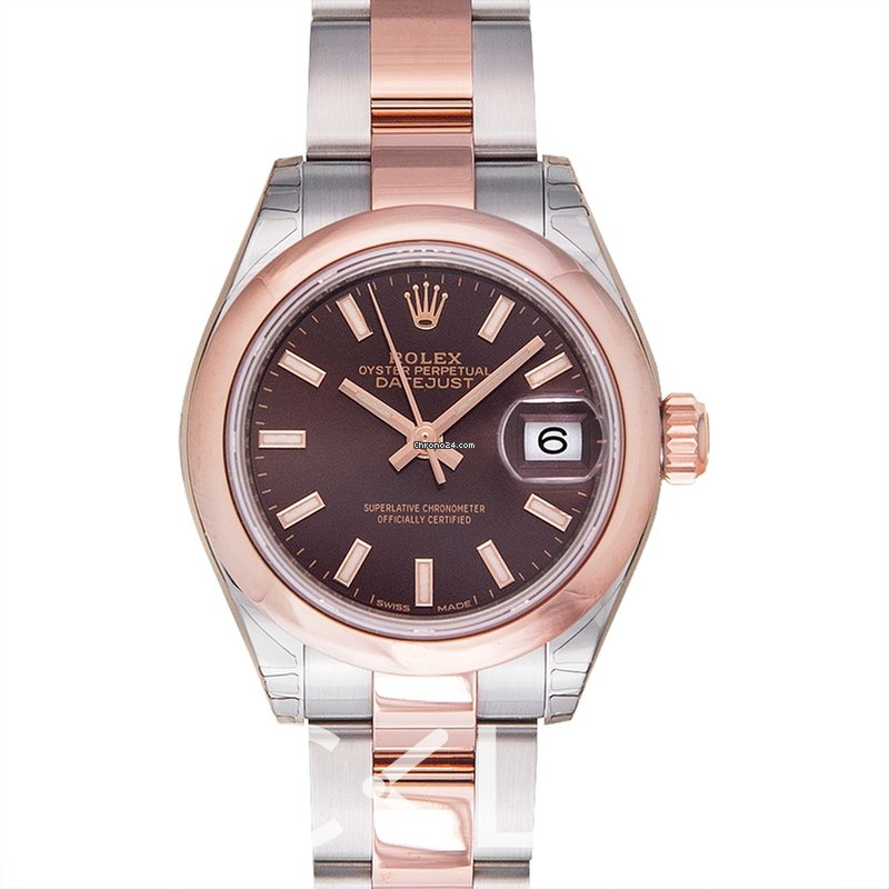 05de8038e936a Rolex Lady-Datejust 28 Chocolate Steel 18k Rose gold 28mm -... for ...