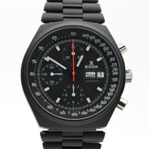 Edox pre-owned Automatic 41mm Black Mineral Glass 10 ATM