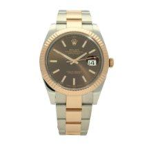 Rolex Datejust II Gold/Steel 41mm Brown No numerals United Kingdom, Liverpool