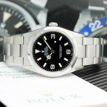 Rolex Explorer Steel 36mm Black Arabic numerals