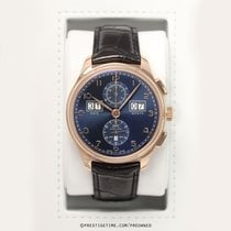 IWC Portuguese Perpetual Calendar Digital Date-Month Rose gold 45mm Blue United States of America, New York, Airmont