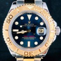 Rolex Yacht-Master 40 Zlato/Zeljezo 40mm Plav-modar Bez brojeva